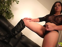 Flawless hottie Nina flaunts her outfit like a true star and it is not possible to watch at her and stay cool. She is a type of a woman who can easily capture your heart. And you`ll know why in a while. Watch this adorable lady as she slowly takes off her