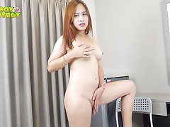 There is only one way that Annabelle wants to do in her `me` time and that is touching herself. And she is up and ready to entertain you with her gorgeous body from her big tits, tight ass down to her nice uncut cock. Enjoy!