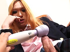 Transgirl Nana feels so horny after a long day at school, ah when she gets home she has to have a play with her hard cock! Being such a naughty schoolgirl, she slips her hand under her skirt and lifts it up to release her throbbing erection which stand er