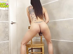 Holly is a `girl next door` material type of lady with an ample appetite for pleasure. She loves to get ass fucked but when her partner isn`t around, she do it all by herself. Watch this gorgeous lady as she treats her thick meaty cock naughtily in front